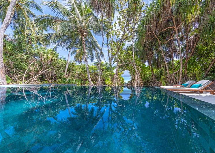 Two bedroom family beach pool villa swimming pool