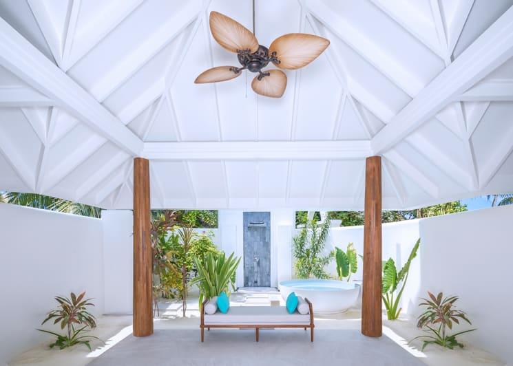 Two bedroom family beach pool villa twin bathroom