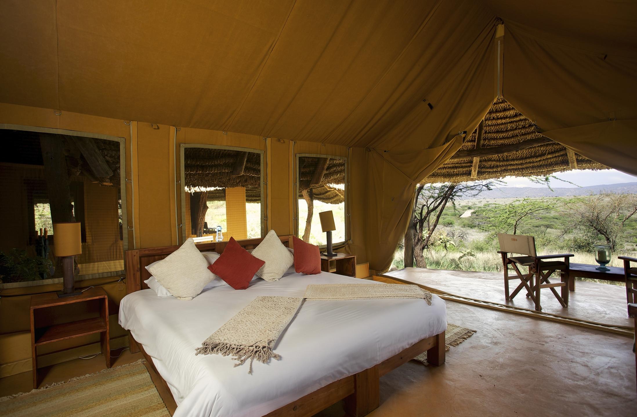 Luxury Family Tent Master Bedroom