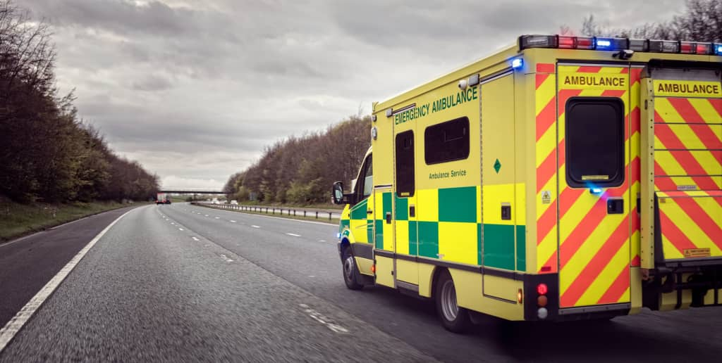 Ambulance racing to an overdose.
