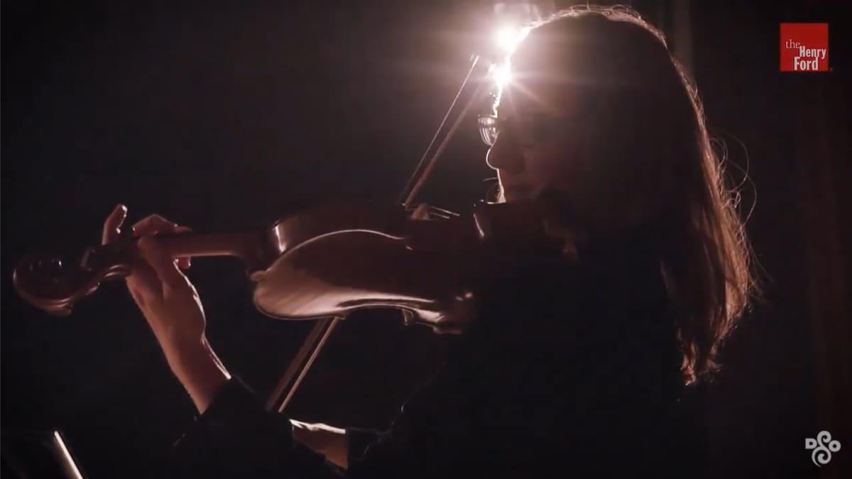 "Artwork representing Kimberly Kaloyanides Kennedy Plays the 1703 ""Rougemont"" Stradivarius"