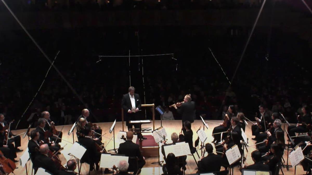 Artwork representing DANÍEL BJARNASON Violin Concerto - Pekka Kuusisto, John Storgårds, Detroit Symphony Orchestra