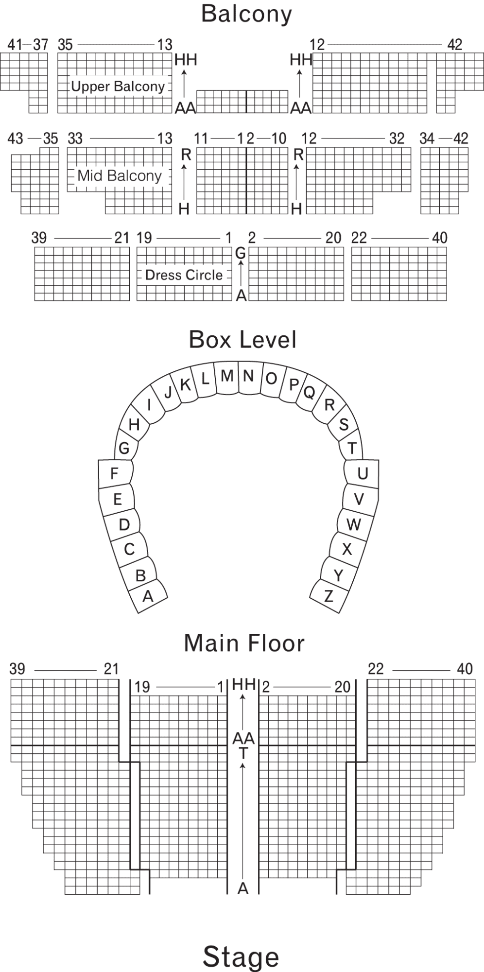 orchestra hall seat map