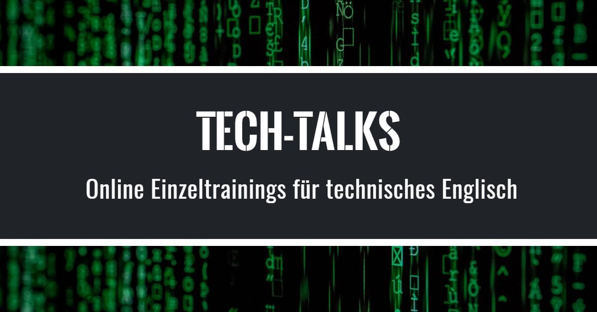 Tech-Talks: Online Training für technisches Englisch
