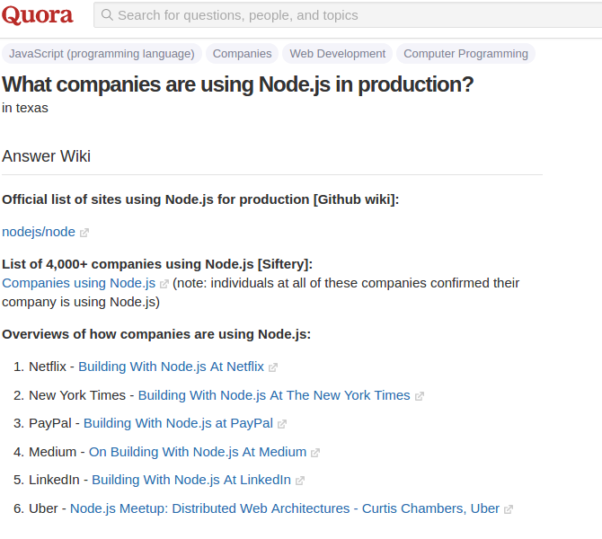 Quora-using-nodejs