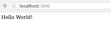 localhost:3000 hello world