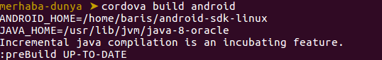 cordova-build-android