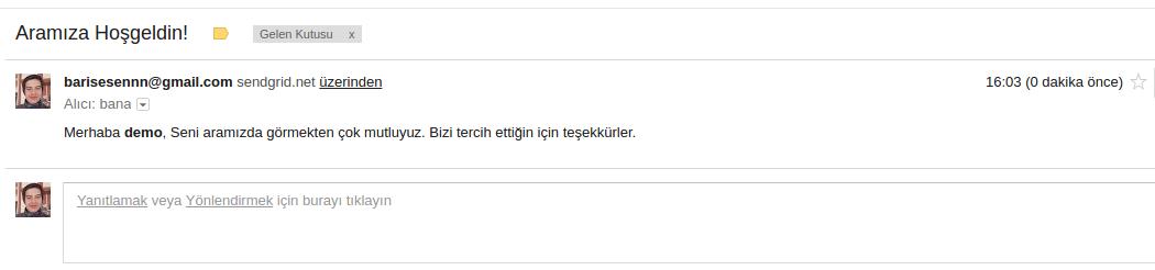 Laravel mail gönderimi
