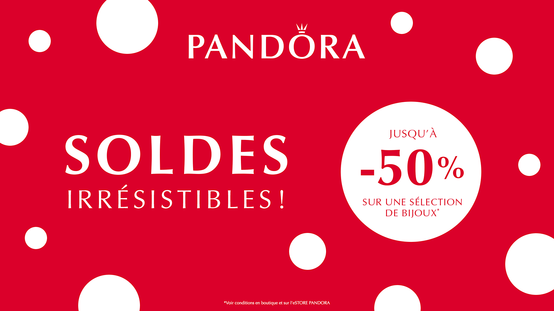 Pandora - SOLDES IRRÉSISTIBLES PANDORA ! | Centre Commercial ...