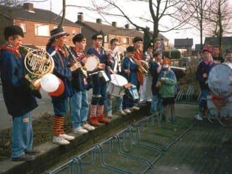 Eerste optreden – schoolcarnaval 1992