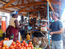 Jon negotiating at the market