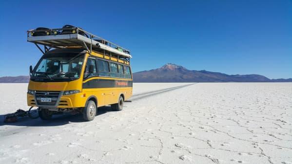 The dinner truck makes its salt flat debut