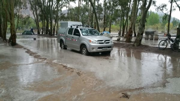 Even the Hilux had a hard time at camp