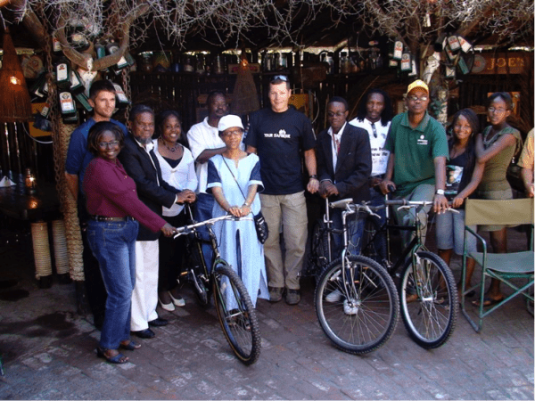 Donating bikes via the TDA Foundation in Namibia