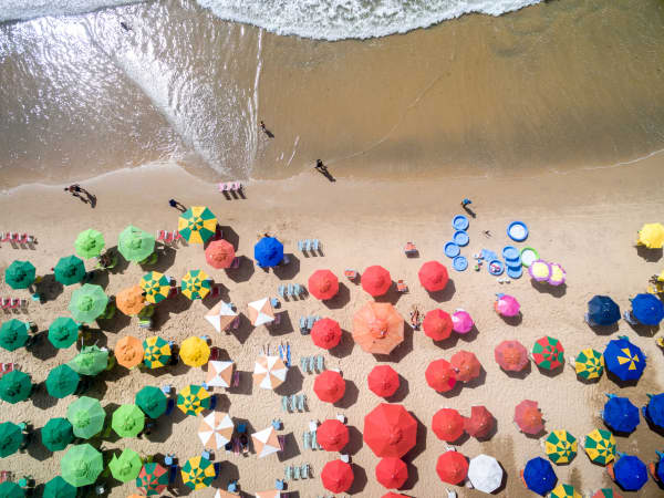 Brazilian beach umbrellas