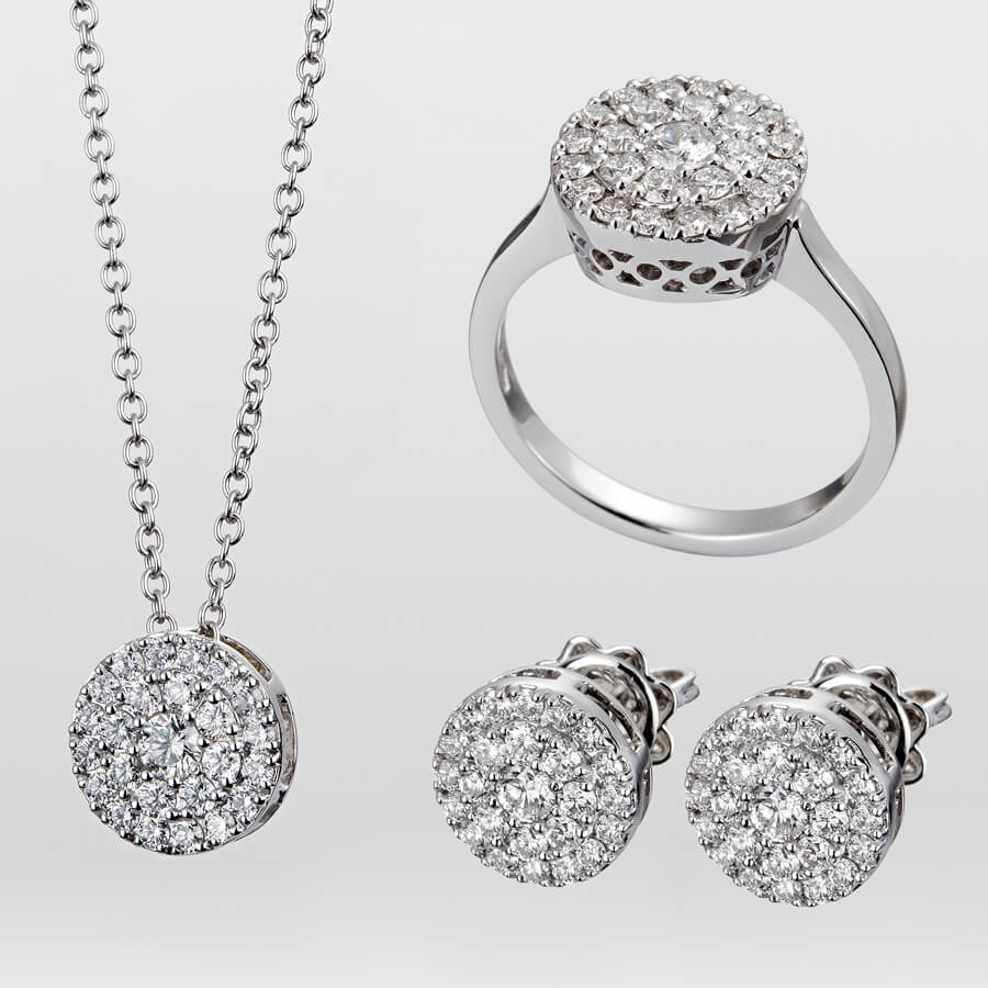 Diamond Three-Piece Ring Set