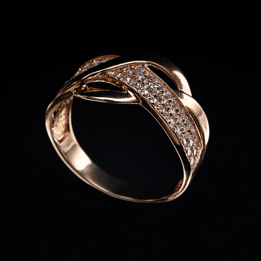 Gold Pavé Twist Multi-Layer