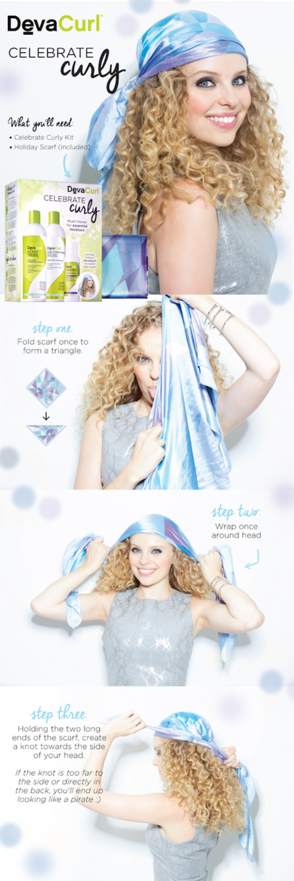 3 Different Styles Of Head Scarves For Curly Hair Devacurl