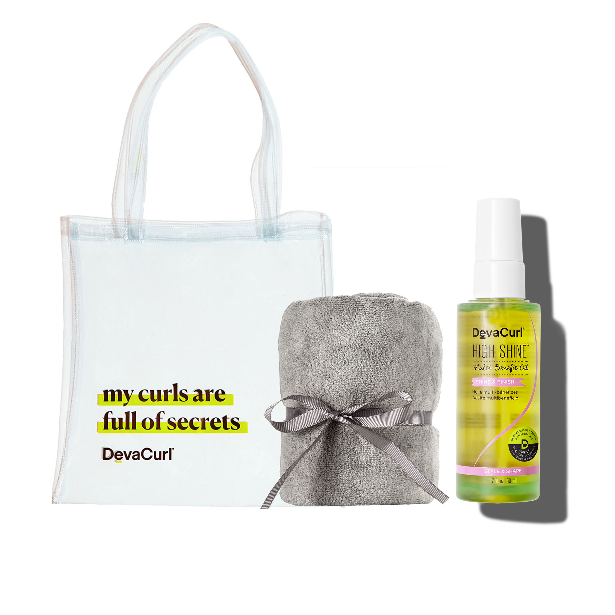 Deva Tote, DevaTowel & High Shine bottle