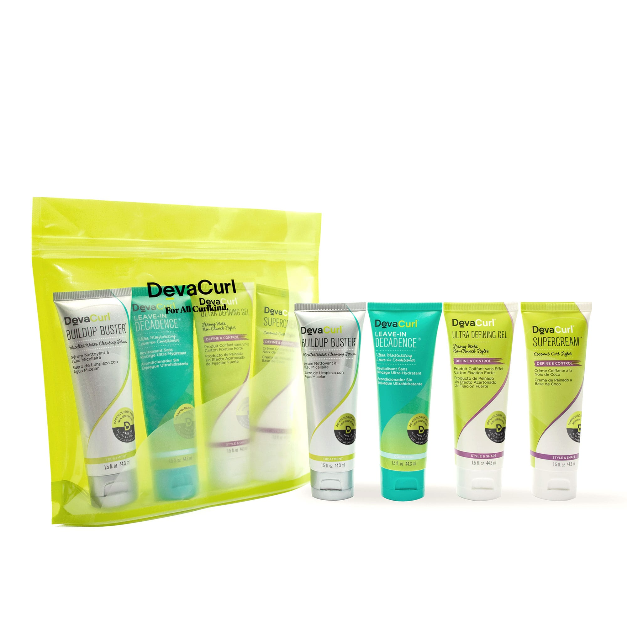 super curly mini kit package