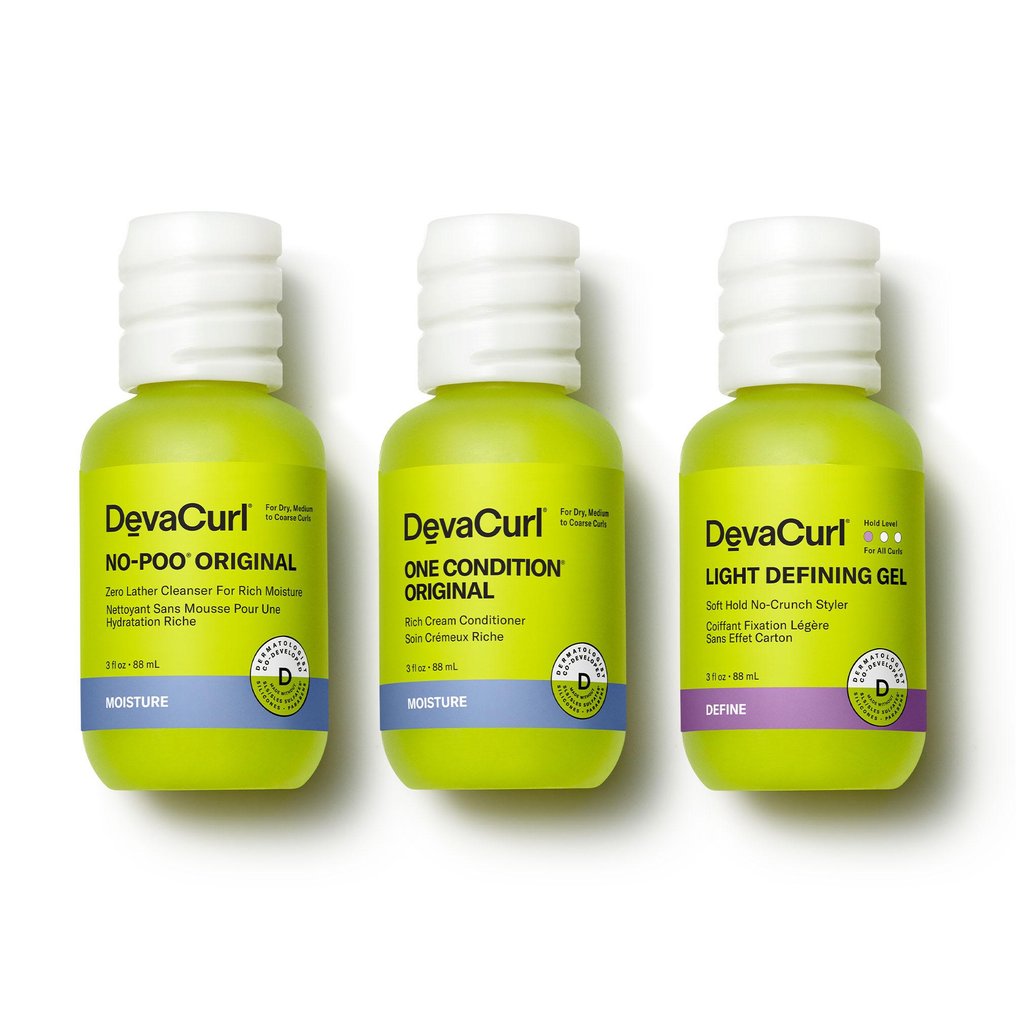 No-Poo Original, One Condition Original and Ultra Defining Gel 3oz bottles