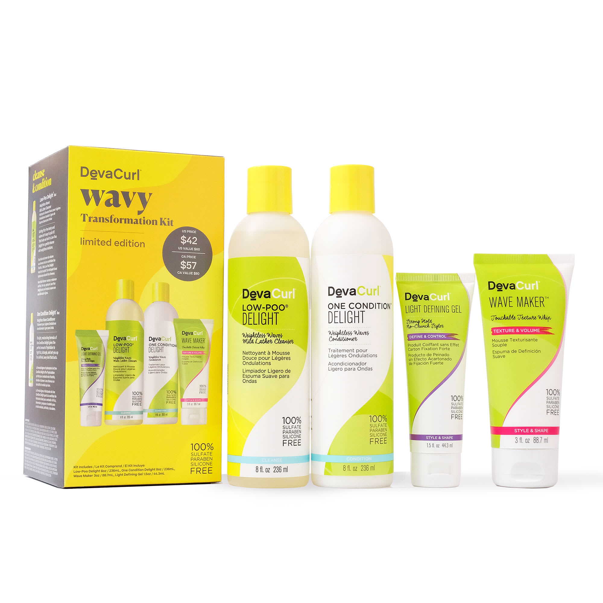 wavy transformation kit with contents outside