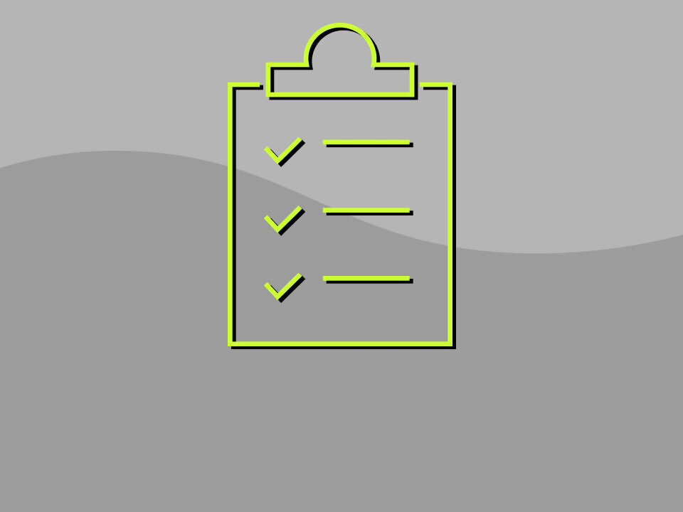 checklist on clipboard icon