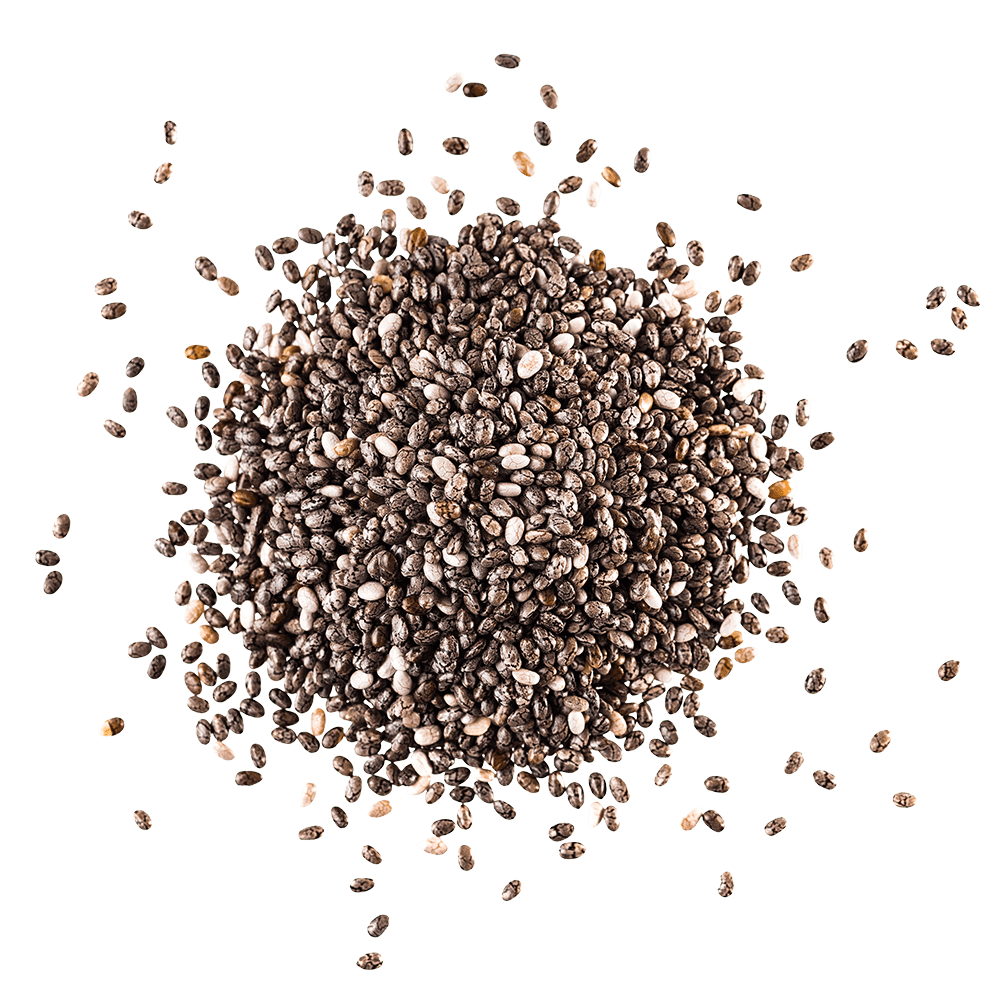 Pile of chia flaxseed
