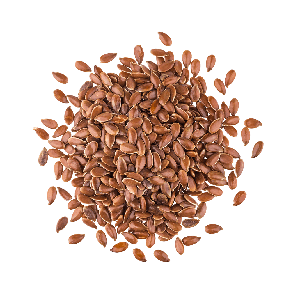 Pile of flaxseeds