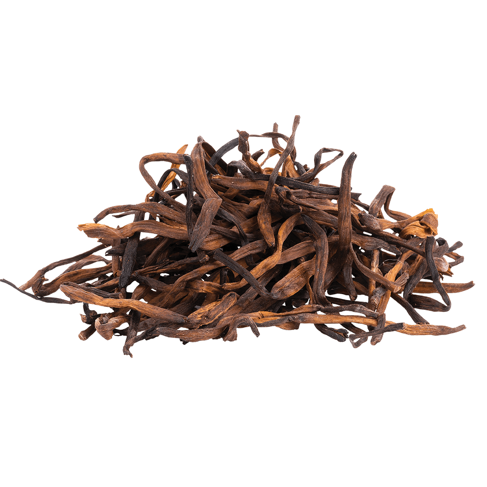 Pile of dry kombucha leaves