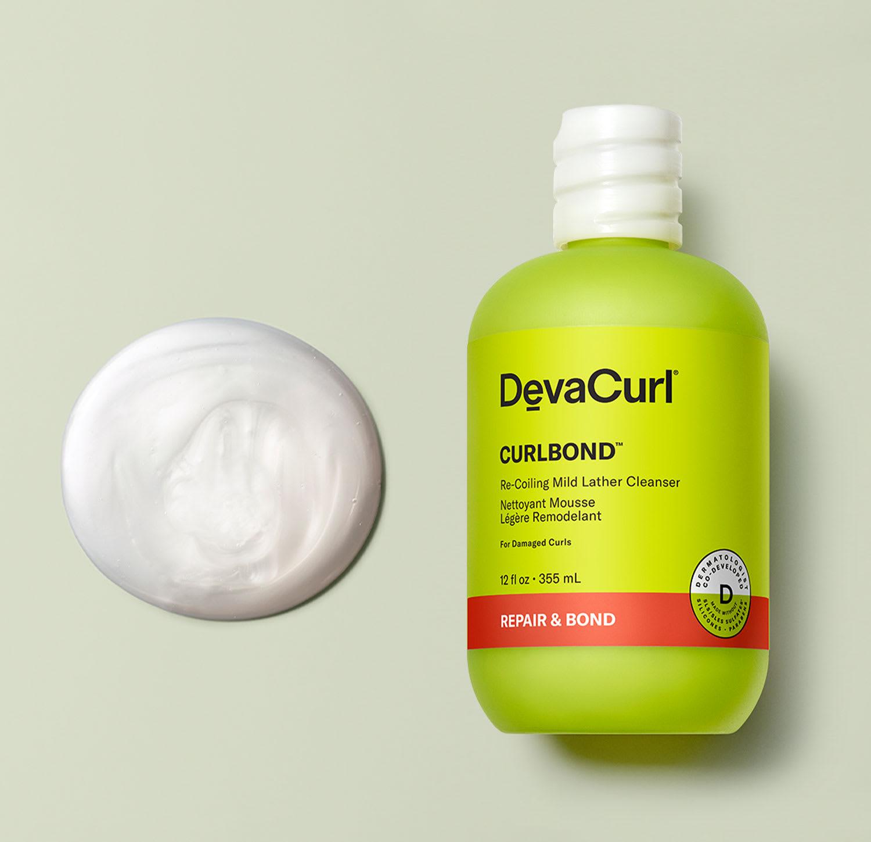 CurlBond cleanser bottle with goop