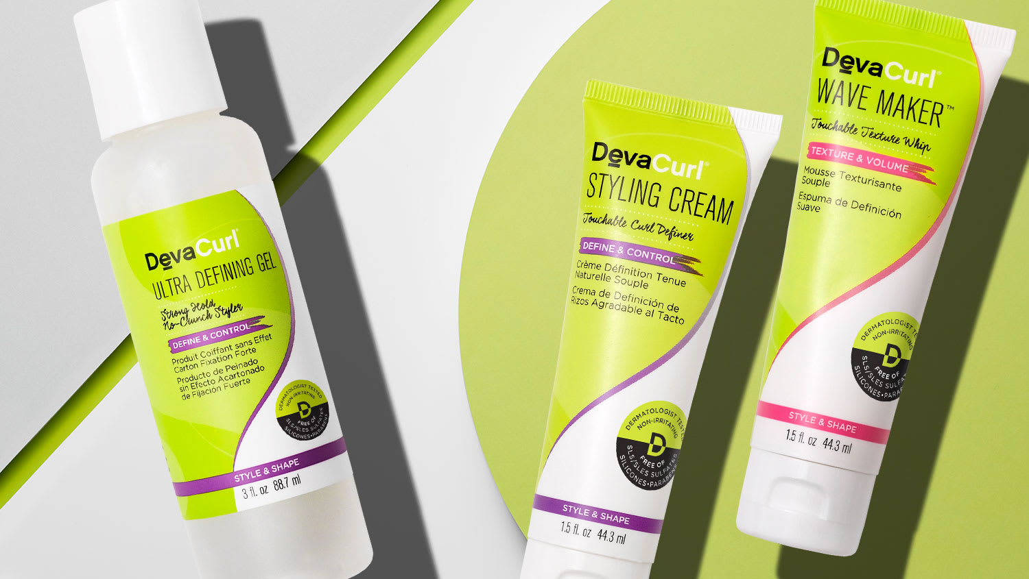 Ultra Defining Gel 3oz bottle and Styling Cream and Wave Maker mini tubes