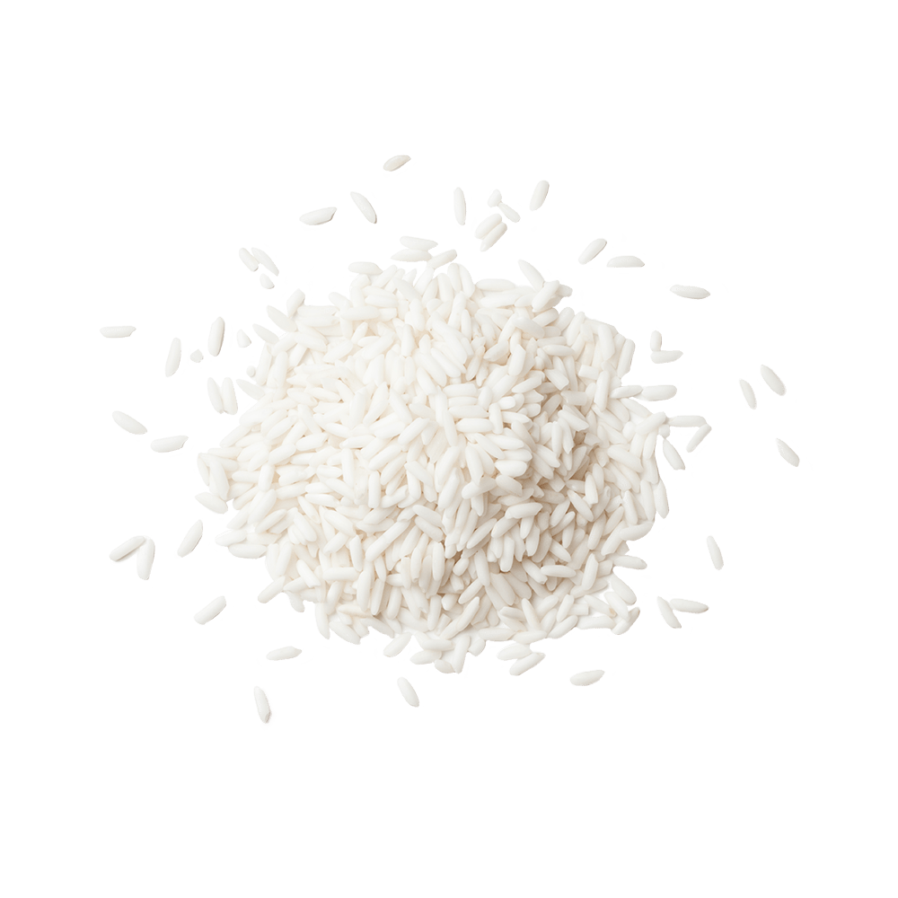 Pile of white rice