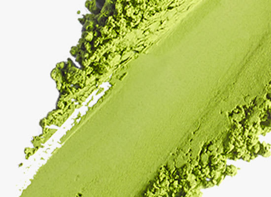 swatch of matcha green tea