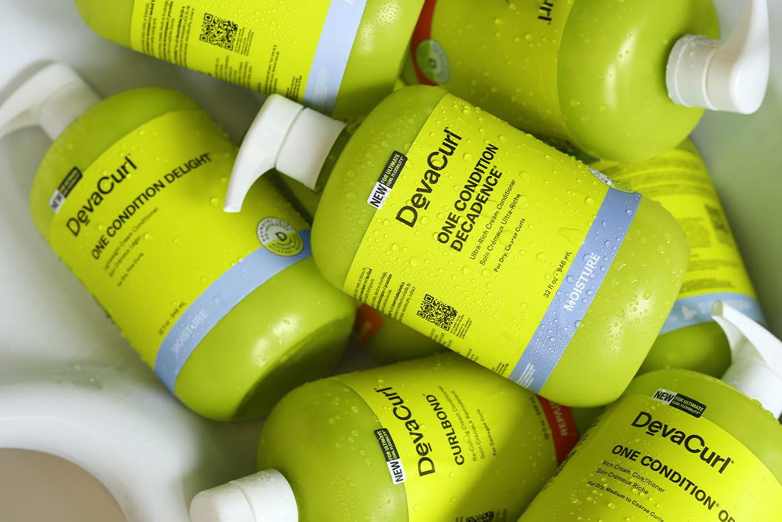 4 DevaCurl product bottles