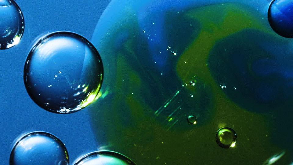 blue science image