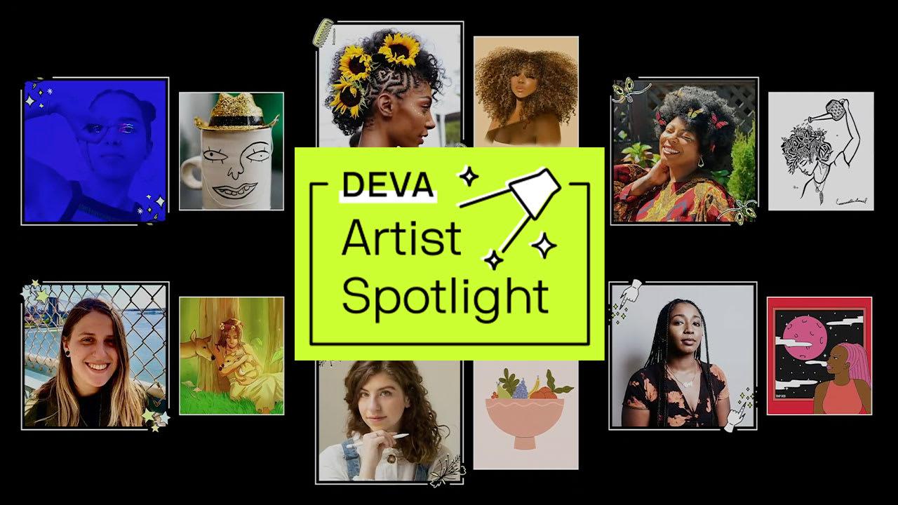 deva artist spotlight curly artists