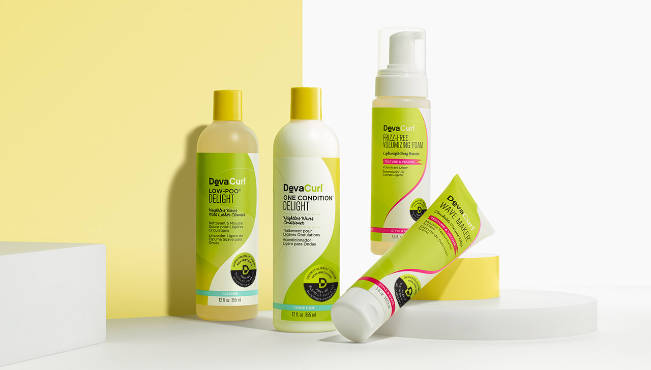 DevaCurl delight curly hair product line