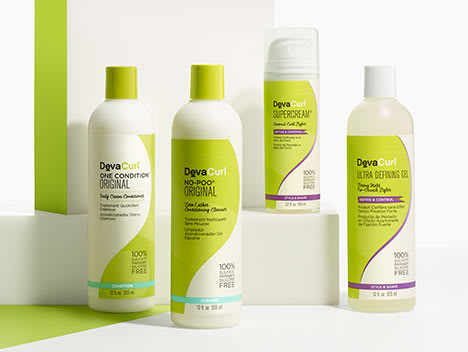 4 DevaCurl product bottles