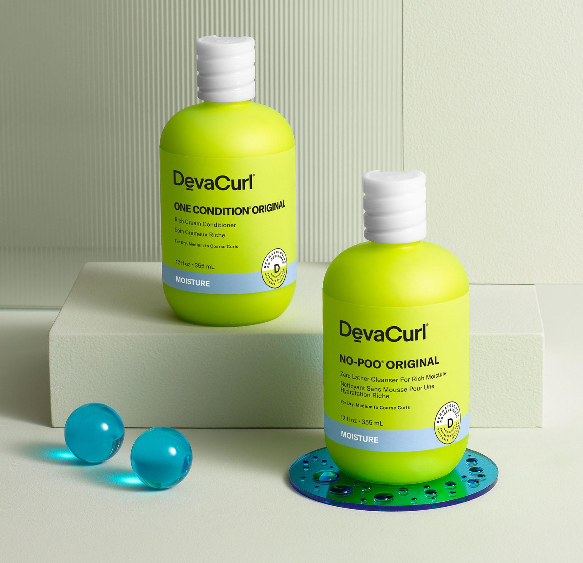 original devacurl cleanser and conditioner bottles