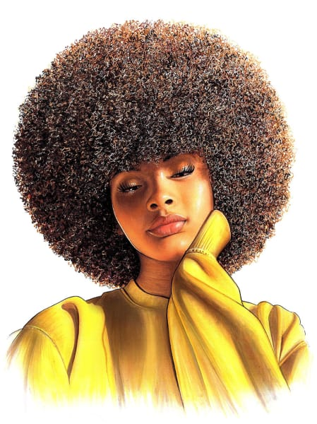 Art: Black woman with an afro