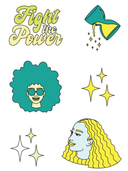 stickers by Tenbeete