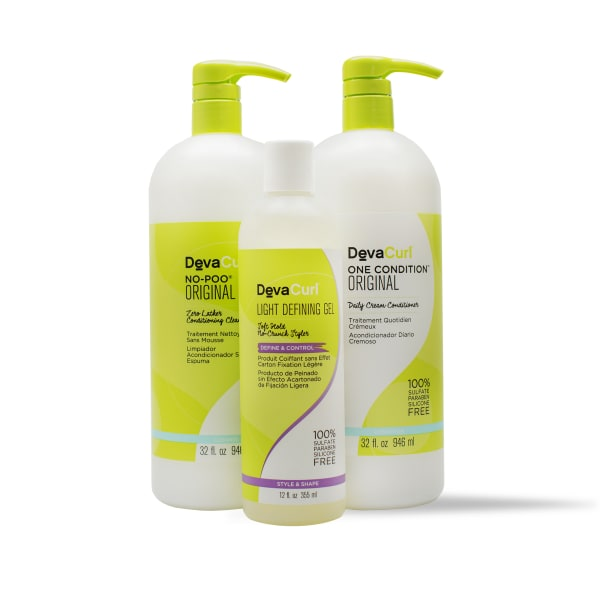 No Poo & One Condition Original 32oz bottles with Light Defining Gel 12oz bottle