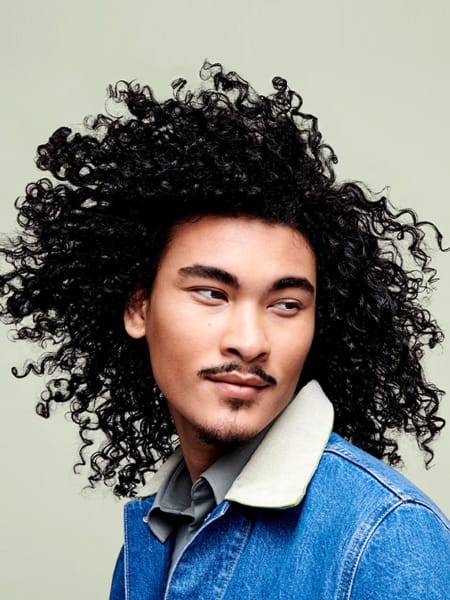 Man with coarse hair