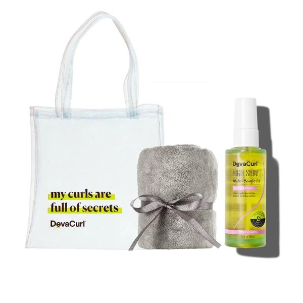 Deva Tote, DevaTowel & High Shine bottle
