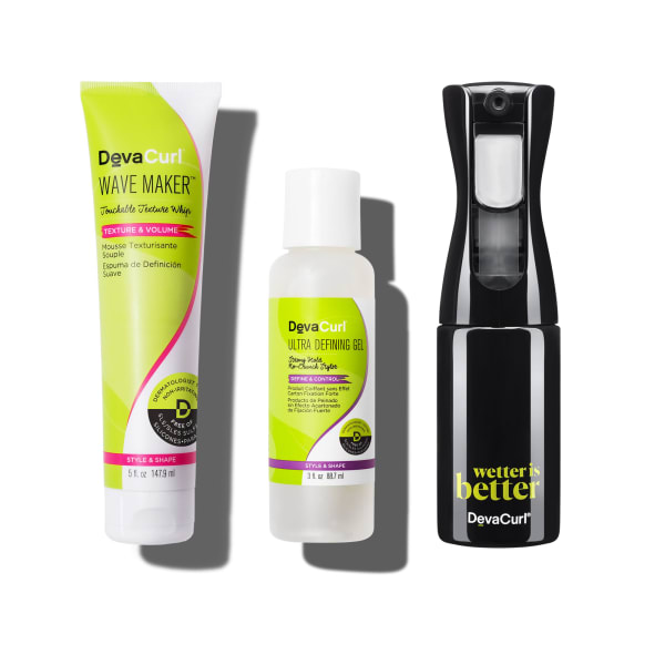 Wave Maker 5oz tube, Ultra Defining Gel 3oz bottle and continuous Spray Bottle