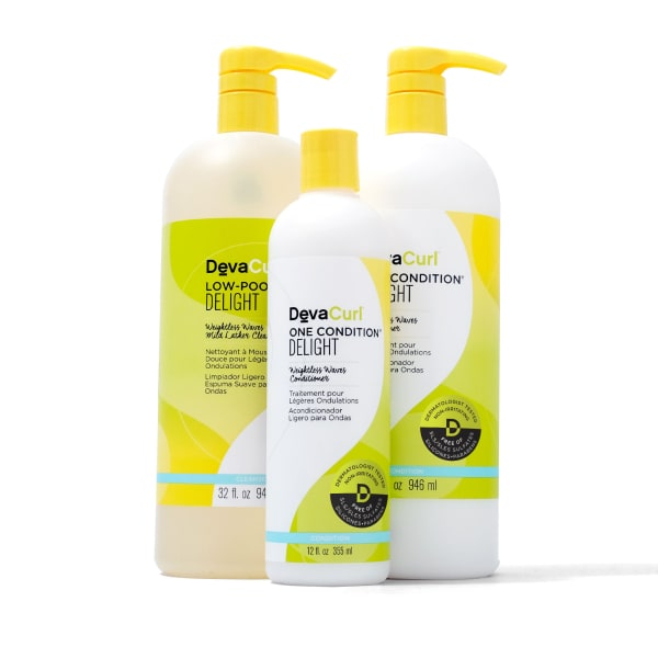 Low-Poo & One Condition Delight 32oz bottles with One Condition Delight 12oz bottle