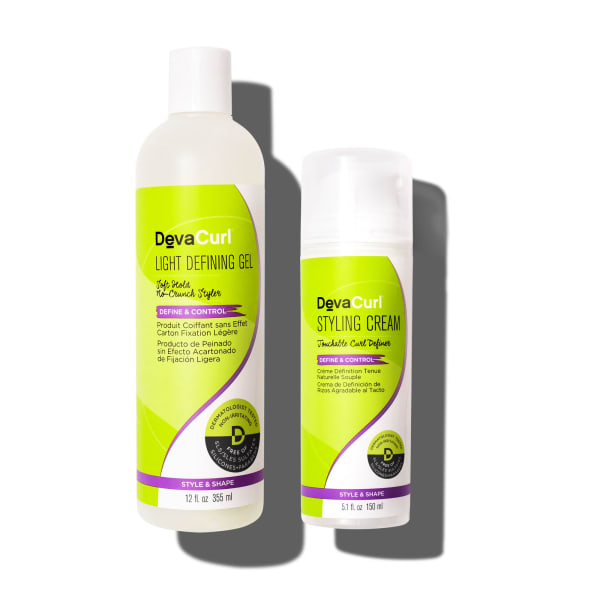 Light Defining Gel 12oz and Styling Cream 5oz bottles