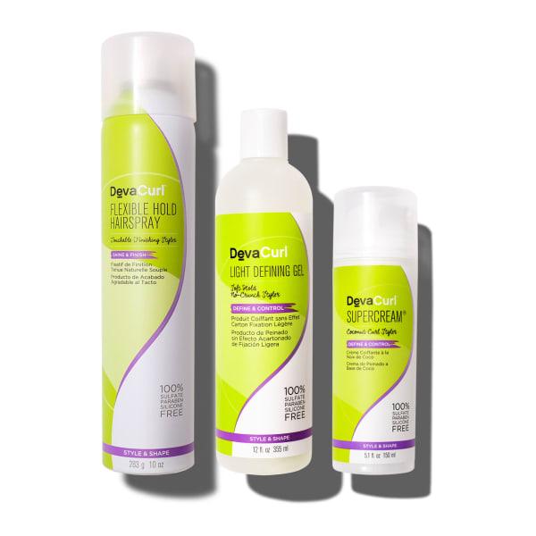 Flexible Hold Hairspray, Ultra Defining Gel and Super Cream