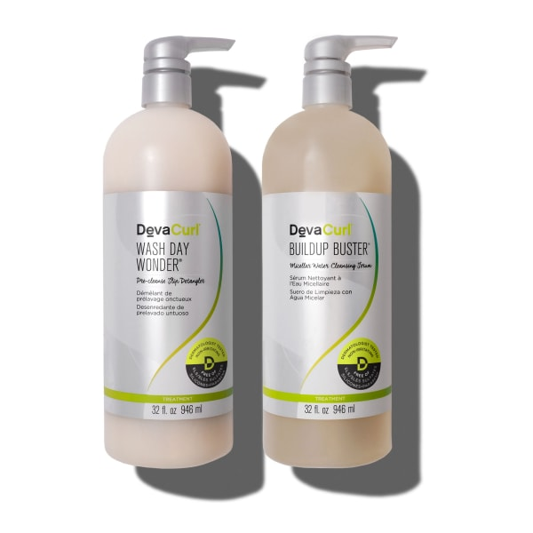 DevaCurl Wash Day Wonder & Buildup Buster 32oz bottles
